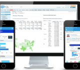 Anaplan running in conjunction with the Salesforce analytics cloud.
