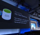 Microsoft's Azure SQL Data Warehouse is announced at the Build conference in San Francisco on April 29.