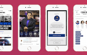 Screens from the Young Turk's Victorious-created app for superfans