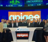 Apigee rings the opening bell at the Nasdaq, April 24.
