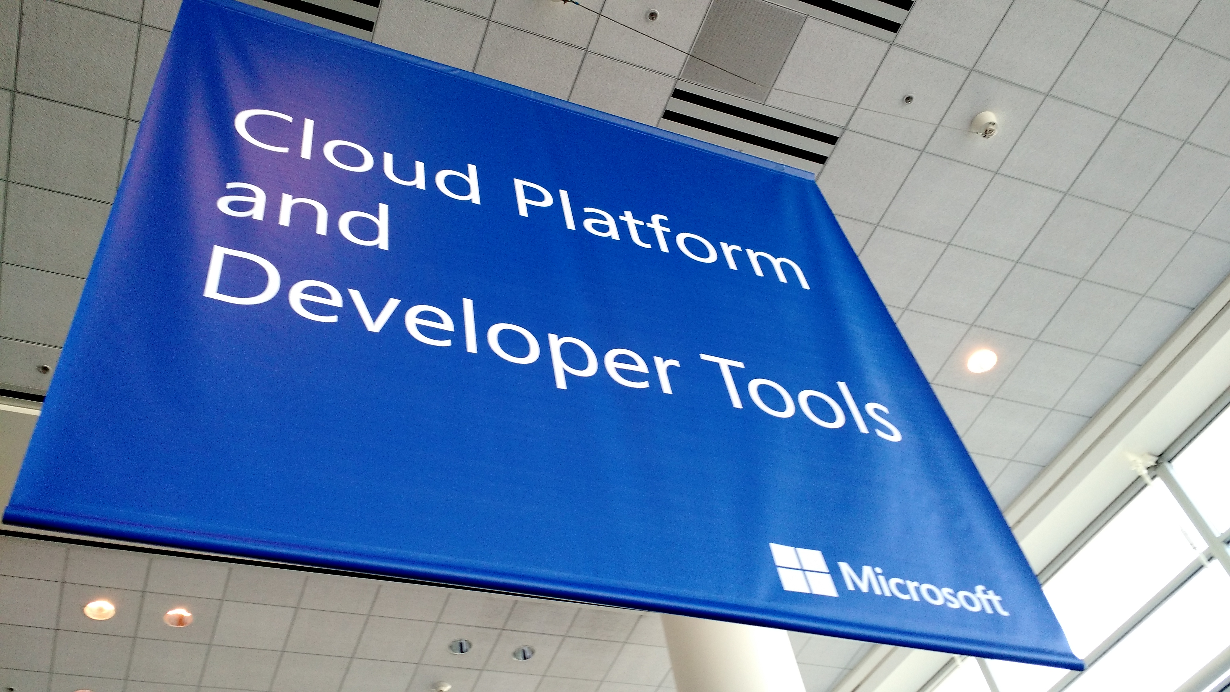 At Microsoft's 2015 Build conference in San Francisco on April 29.