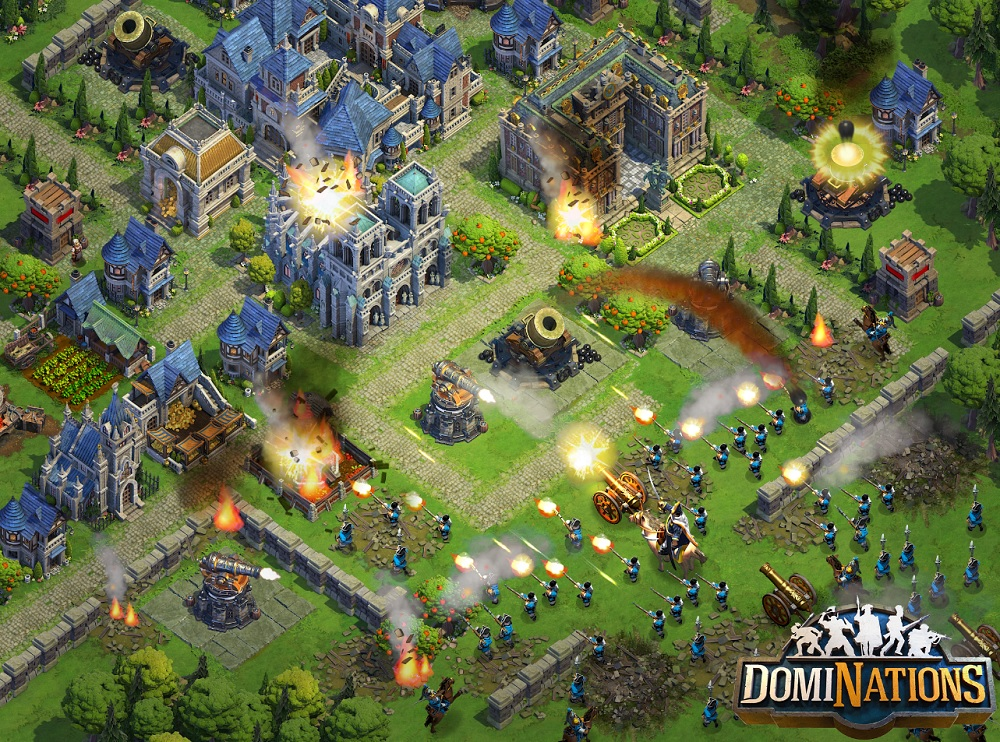 Serious combat in DomiNations