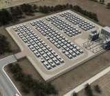 Tesla's utility storage.
