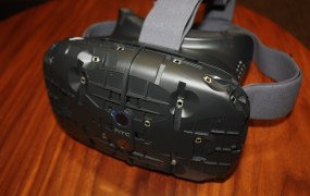 Valve-powered HTC Vive VR headset.