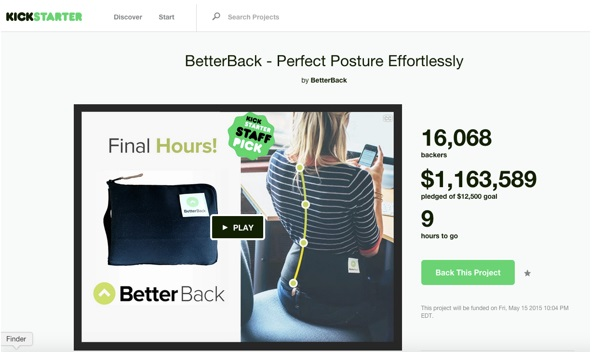 The BetterBack, crowdfunding on Kickstarter, is a lot like the NadaChair.