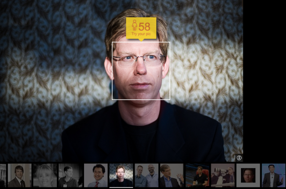 VentureBeat editor in chief Dylan Tweney, estimated to be 58 in this picture by Microsoft's How Old Do I Look? bot.