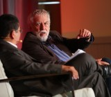 Nolan Bushnell, speaking at length about the future of video games, with GamesBeat Summit moderator Dean Takahashi