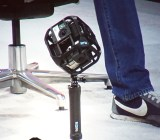 Six GoPro Hero 4 cameras in this rig can capture spherical video.