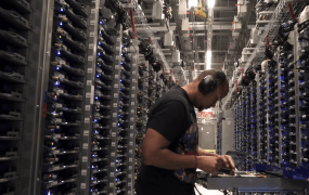 A Google data center in Iowa.