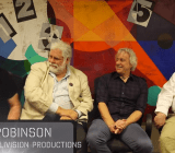 From left: Retroaction's Mike Kennedy, Intellivision Productions president Keith Robinson, Realtime president Dave Warhol, and designer John Sohl.