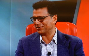 Omid Kordestani, the chief business officer of Google, onstage at the Code Conference, May 2015.