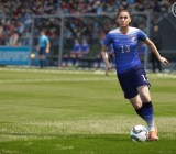 American soccer player Alex Morgan in EA Sports' FIFA 16 soccer game.
