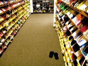 Shoe store.