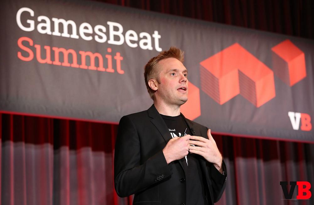 Super Evil Megacorp COO Kristian Segerstrale, speaking at the GamesBeat Summit.