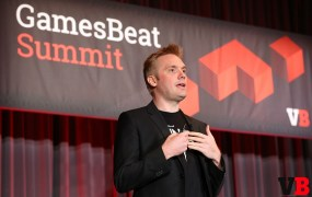 Super Evil Megacorp COO Kristian Segerstrale, speaking at the GamesBeat Summit.