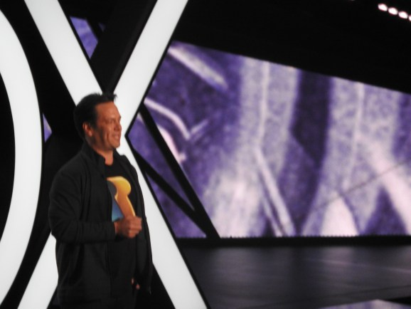 Phil Spencer, head of Microsoft's games business, at Microsoft's E3 2015 press event.