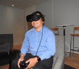 Dean Takahashi gives the Oculus Rift a go at E3.