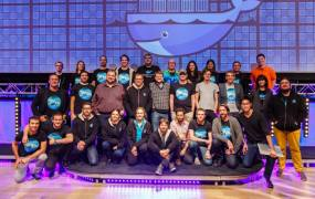 The Docker team at DockerCon Europe 2014 conference in Amsterdam on Dec. 5, 2014.