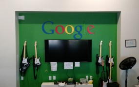 At Google headquarters in Mountain View, Calif.