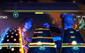 Rock Band 4's solo features (shown on the left) look a bit different.
