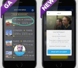 """The newly released Salesforce SOS video """"help"""" (left), and the in-beta Service for Apps"""