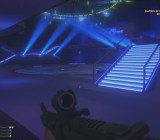 The blue disco lights of The Eclipse nightclub in the Code Blue map for Battlefield Hardline: Criminal Activity.
