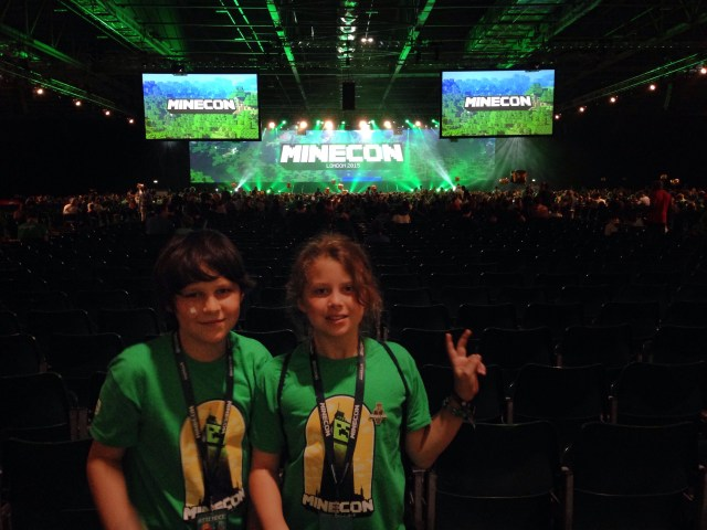 My kids at Minecon 2015. Liam, 12, (left) and Kalian, 10.