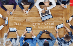The cover of the newest Social Intelligence Report from Adobe Digital Index.