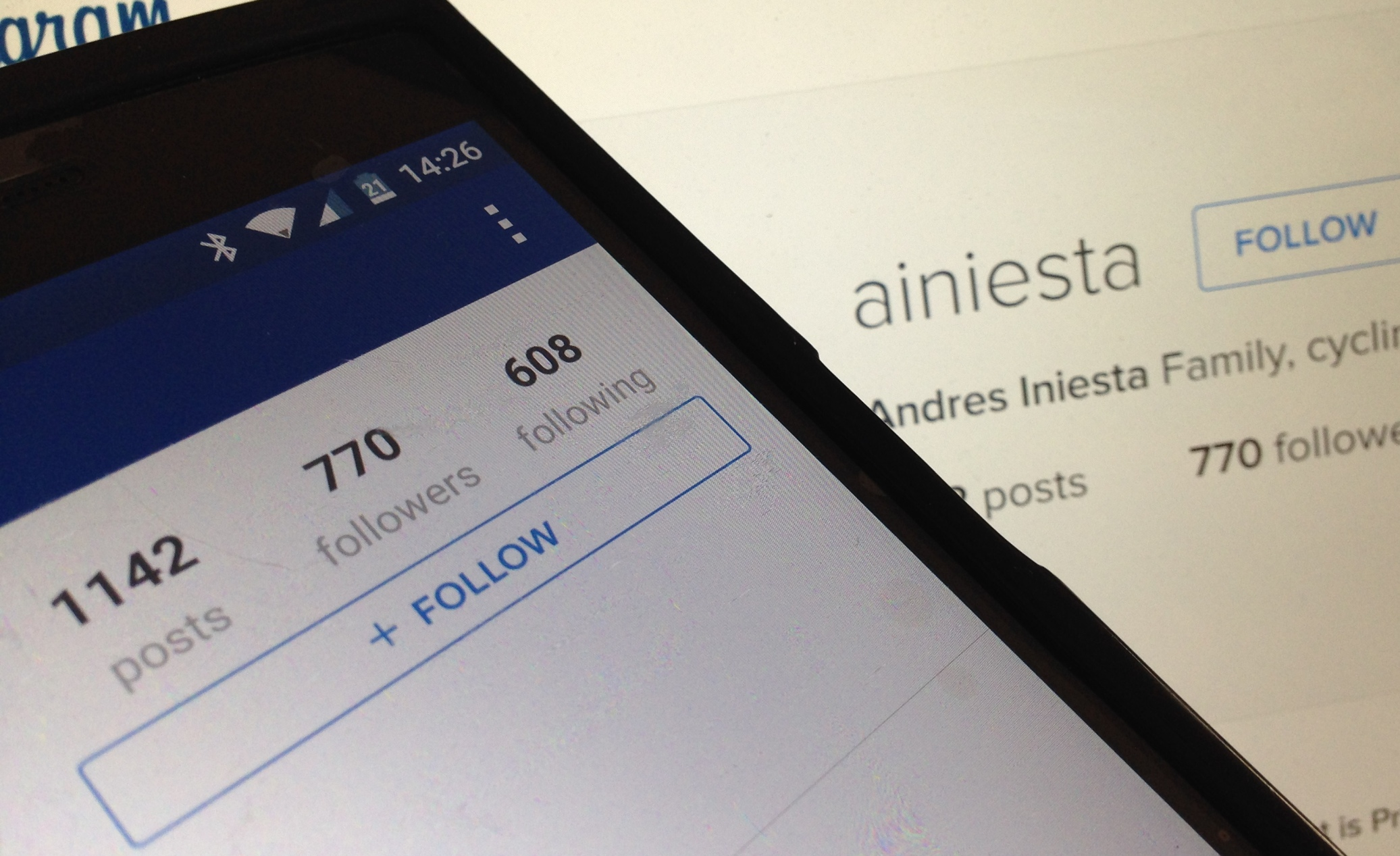 Instagram: Andrés Iniesta