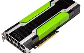 An Nvidia Tesla K80 GPU accelerator.