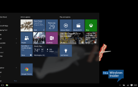 The Start menu on Windows 10.