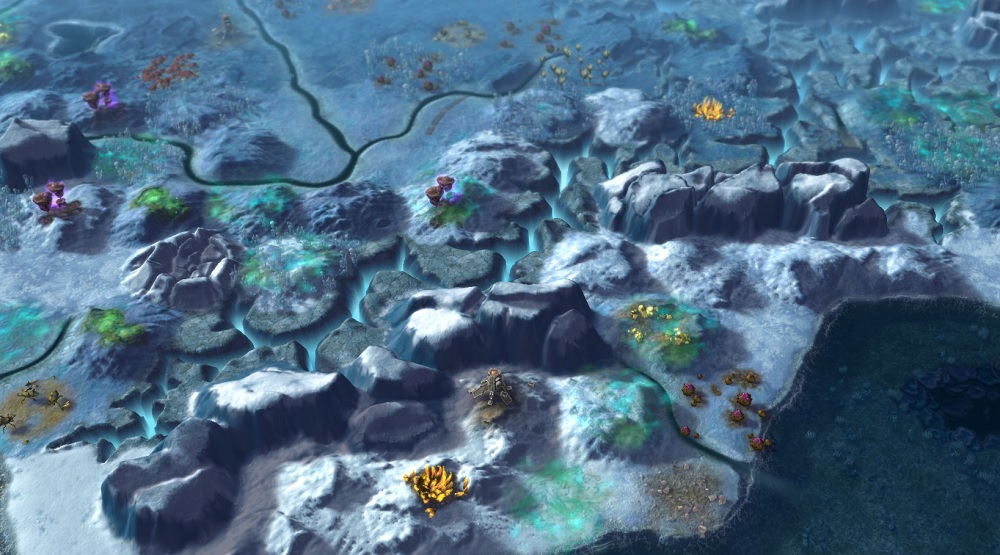 A frozen biome in the Rising Tide expansion of Civilization: Beyond Earth.