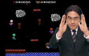 The camera loved Iwata.