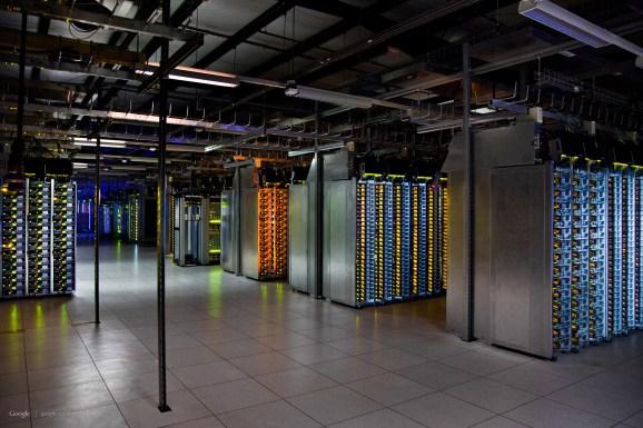 Inside a Google data center in The Dalles, Ore.