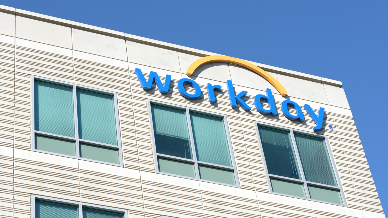 Signage on top of Workday's office