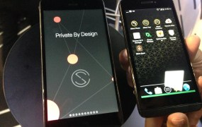 The Blackphone 2 on display at the Barcelona Mobile World Congress.