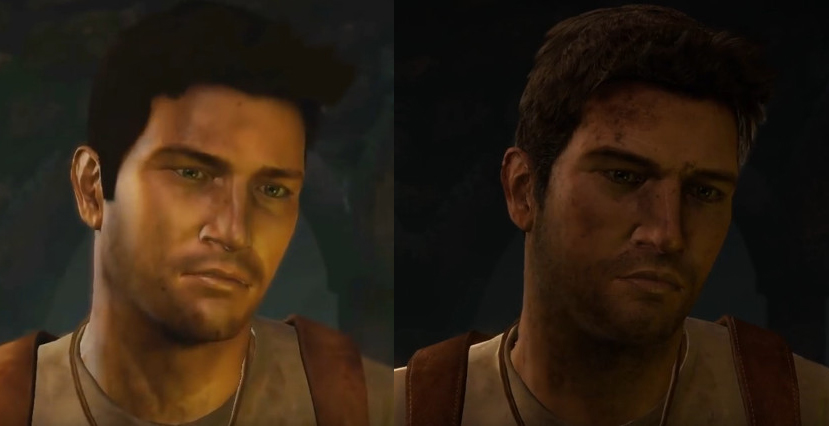 PlayStation 3 is on the left. PlayStation 4 is on the right.