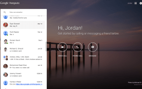 The new Google Hangouts dedicated web app.