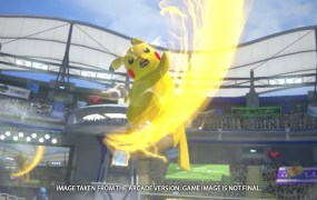 Pikachu gets ready to throw down.