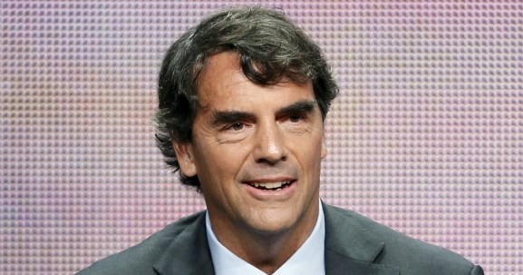 """Venture capital investor and executive producer Tim Draper from """"Startup U"""" speaks at a panel for the ABC Family television series during the Television Critics Association Cable Summer Press Tour in Beverly Hills, California August 5, 2015. Reuters / Danny Moloshok"""