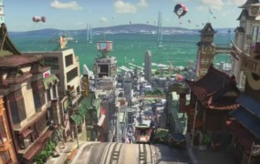 A view of San Fransokyo from Disney's 'Big Hero 6'