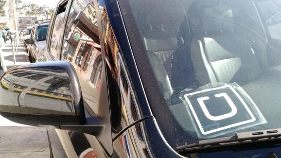 An Uber car in San Francisco.