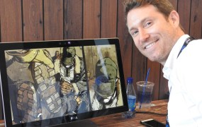 Austin Harrison, CEO of Noble Transmission, creator of a new way to view comics.