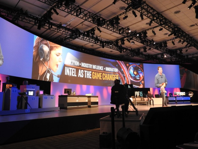 Kirk Skaugen at Intel spent a whole session talking about the rise of PC gaming.