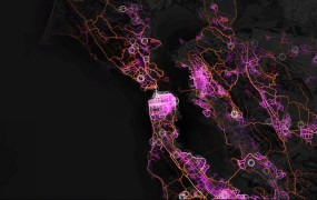 Mapbox screenshot of the San Francisco Bay Area