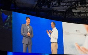 United Artists chief Mark Burnett with Intel CEO Brian Krzanich