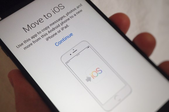 Apple's 'Move to iOS' Android app only works with new or reset iOS devices