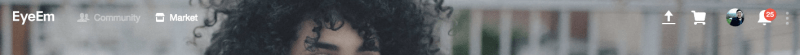 EyeEm web upload feature screenshot