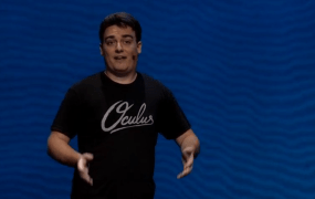 Oculus VR founder Palmer Luckey talks virtual worlds at his Connect event in Los Angeles.