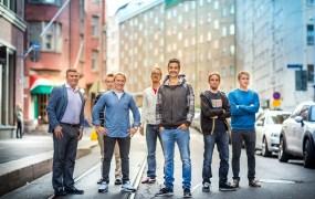 Futurefly's team. Oskari Häkkinen, chief product officer, is in center.